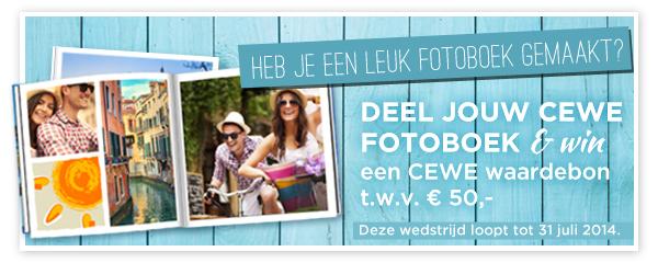 Win een CEWE waardebon t.w.v. € 50,- met jouw fotoboek!