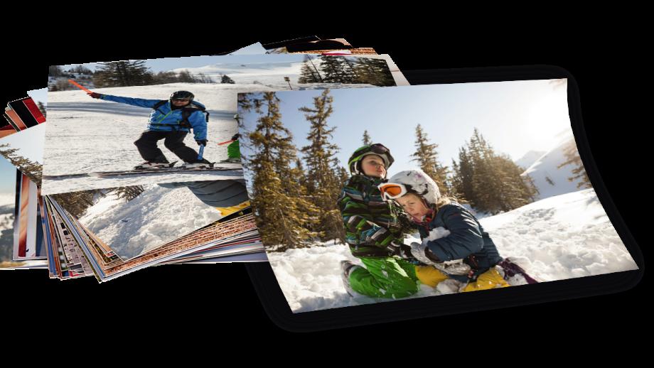 Foto afdrukken van de wintersport