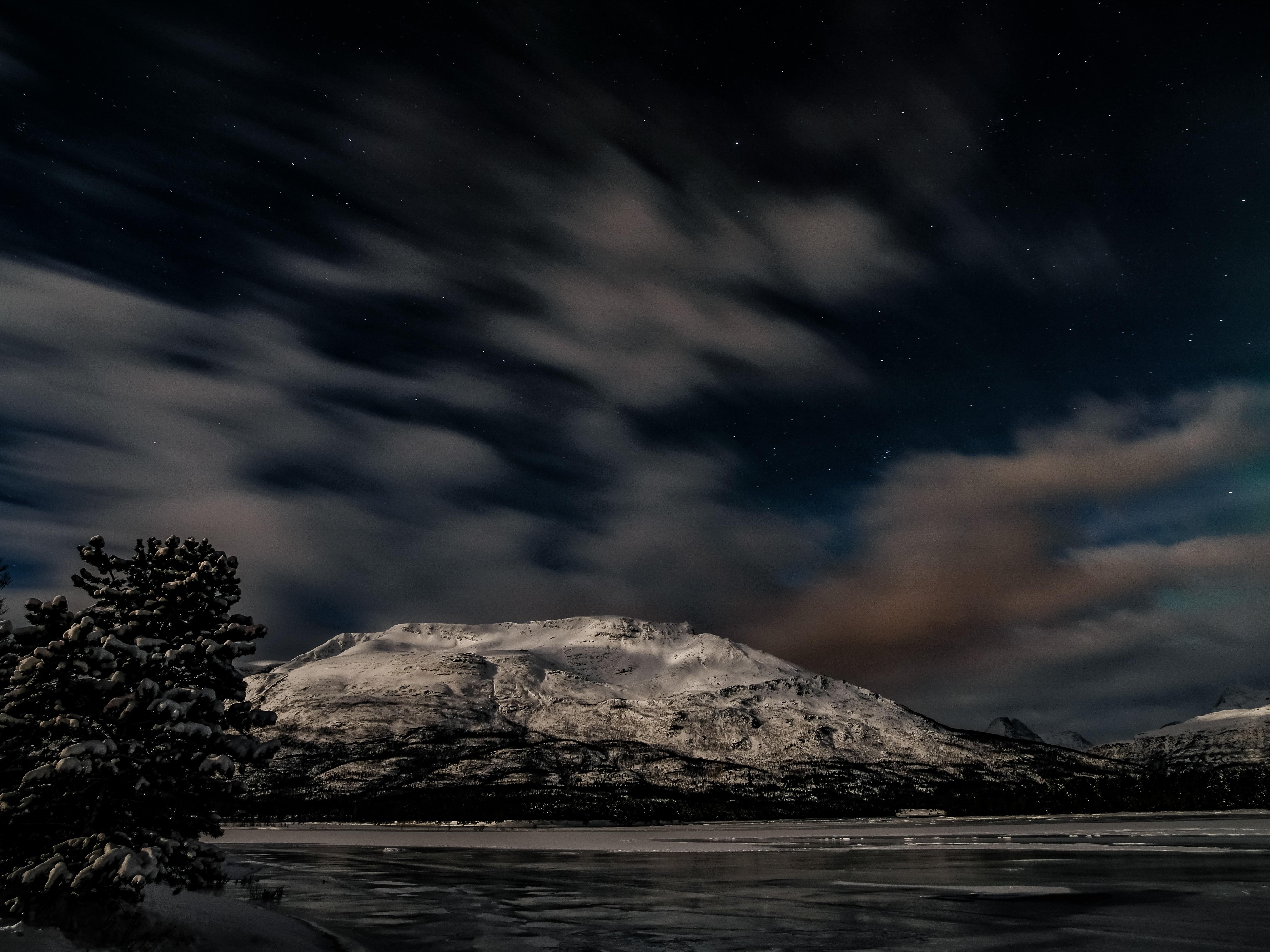 Een berg in Scandinavië